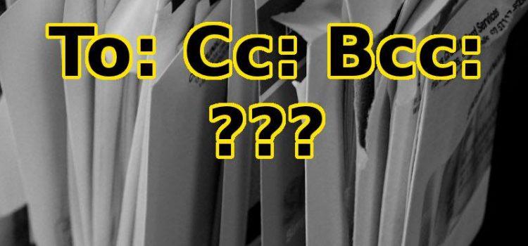 Cum folosim TO, CC și BCC în mailuri