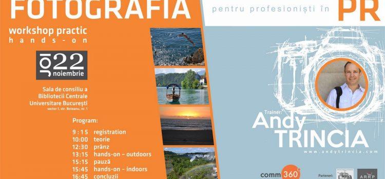 Workshop fotografie pentru profesioniștii în PR